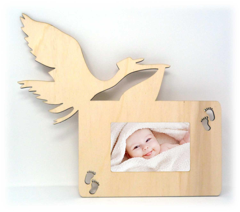 Storch Foto-Rahmen Wand Bilder-Rahmen Tür-Schild für das Wohnzimmer ...
