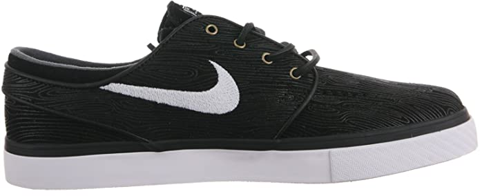 Amazon.com | Nike Stefan Janoski Premium SE Black/White Skate Shoes - 8 | Fashion Sneakers
