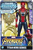 Hasbro Marvel Avengers Infinity War Iron Spider Titan Hero Power FX, Personaggio 30 cm, Action Figure, E0608103
