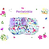 Superbottoms Cloth Supersoft Reusable Cover Diaper with 1 Stay Dry Organic Cotton Soaker, Periwinkle, One Size