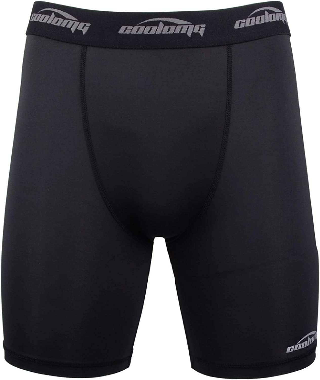COOLOMG Mens Compression Shorts 5.5 Cool Dry Sport Tights Training Baselayer for Boys Youth