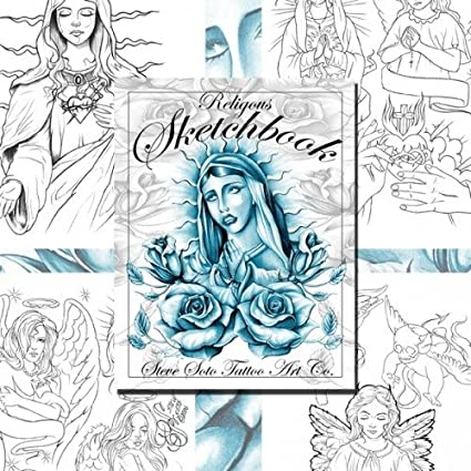 Amazon.com: Religious Sketchbook #1 Tattoo Design Flash Book by ...