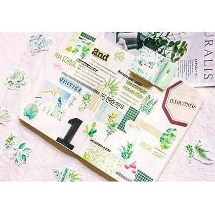 Amazon.com: Bonito juego de pegatinas de papelería, hojas ...