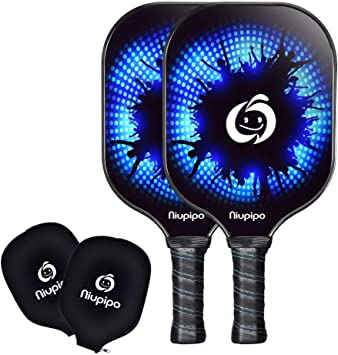 niupipo Pickleball Paddle - USAPA Pro Graphite Pickleball Paddles Set, Honeycomb Composite Core, Guard Ultra Cushion 4.5 in Grip, Pickleball Paddle ...