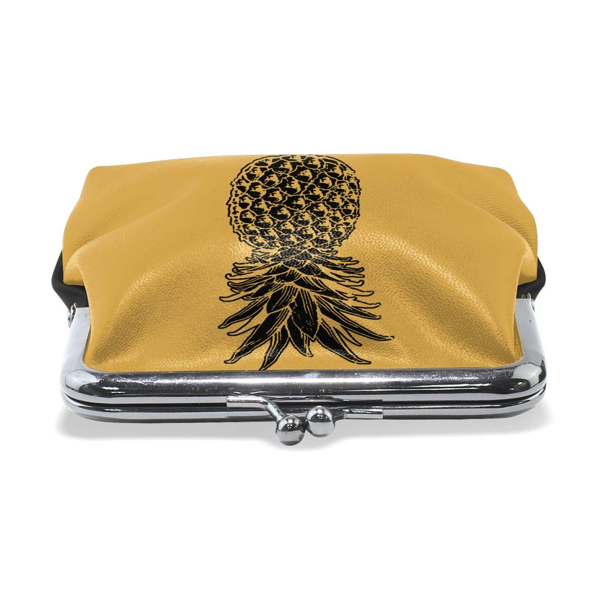 Cute Skull Pineapple Cash Buckle Coin Purse For Womens