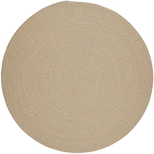 Solid Round Wool Rug