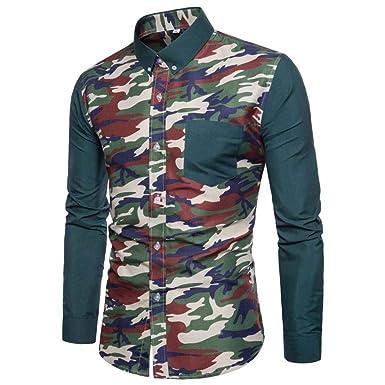 best service 63c6d 5c496 Goosuny Freizeithemden Camouflage T Shirt Herren Casual ...