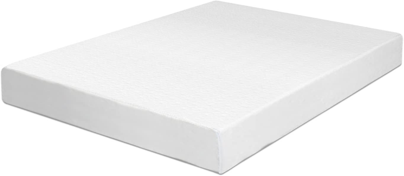Swiss Ortho Sleep 6-Inch High-Density 2x Layered Twin Memory Foam Mattress with Bamboo Cover