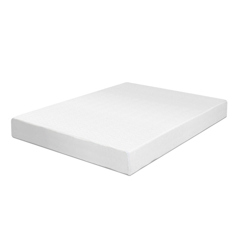 Swiss Ortho Sleep 6-Inch High-Density 2x Layered Twin Memory Foam Mattress with Bamboo Cover