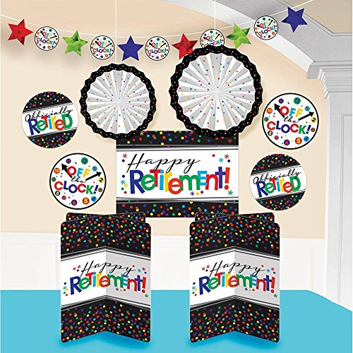 Nice Amscan Fun-Filled Retirement Party Happy Retirement Room Decorating Kit, Paper (2-Pack)