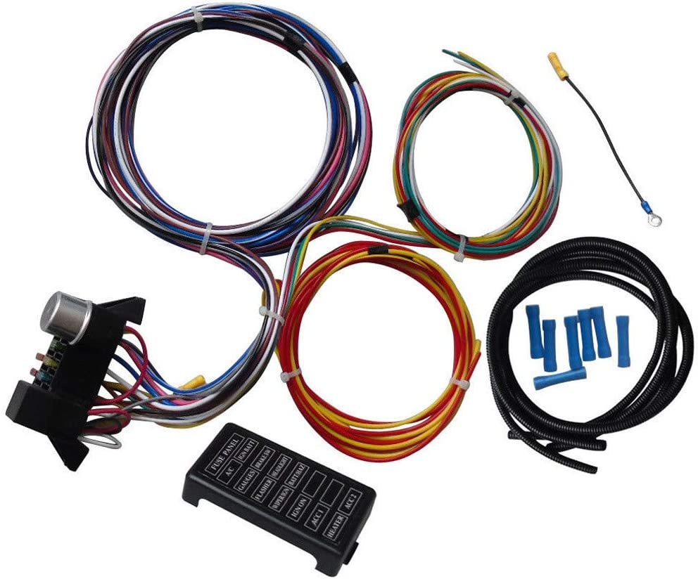 automotive wire harness kits amazon com leadmall circuit wiring harness kit 12 circuits hot  leadmall circuit wiring harness kit
