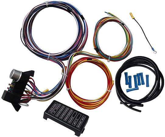 car wiring harness kits amazon com leadmall circuit wiring harness kit 12 circuits hot  leadmall circuit wiring harness kit