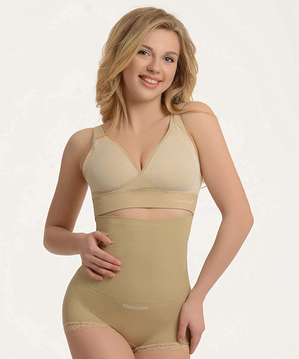 Sankom Patent Body Shaper with Aloe Vera Comfortable and Ergonomical with Posture Correction Effect