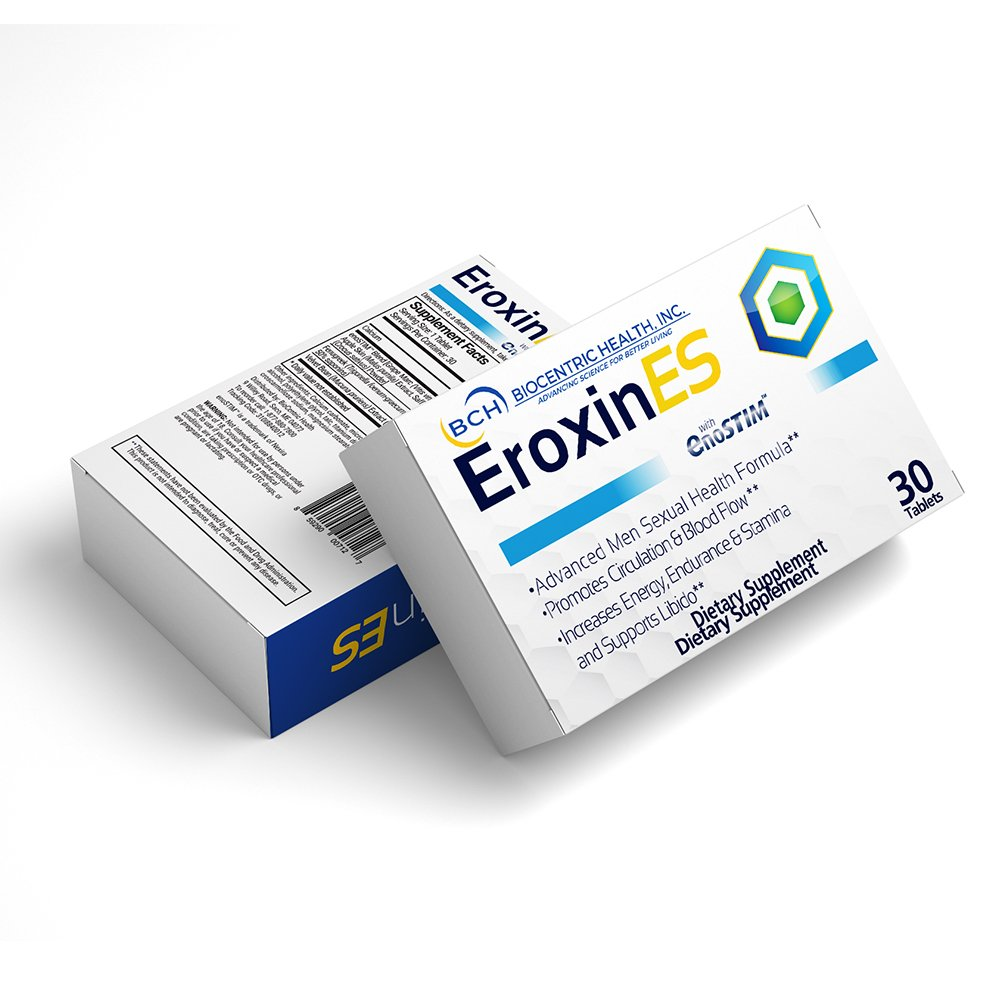Biocentric Health's Eroxin ES with EnoSTIM 600MG - 30 Capsules - Natural Amplifier for Performance, Energy, and Endurance. Male Enhancement with enoSTIM