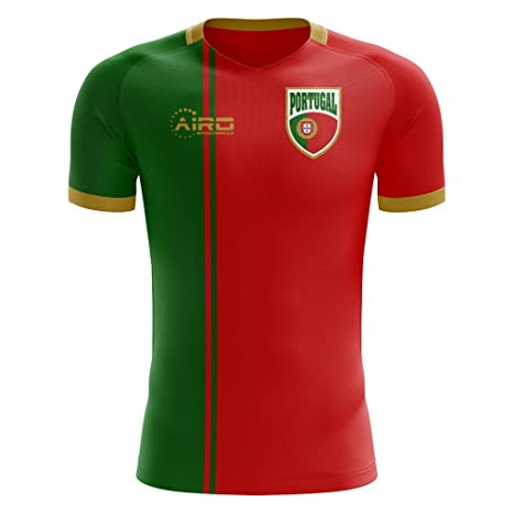 faaec6a2102 Image Unavailable. Image not available for. Color: Airo Sportswear 2018-2019  Portugal Flag Home Concept Football ...