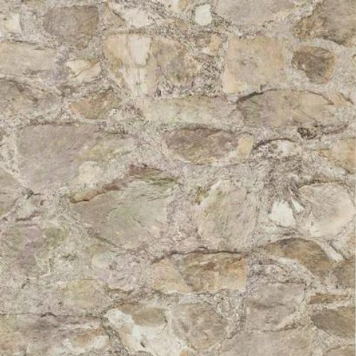 York Wallcoverings PA130901 Weathered Finishes Field Stone Wallpaper, Cocoa Brown/Dark Chocolate/Red/Bright Silver