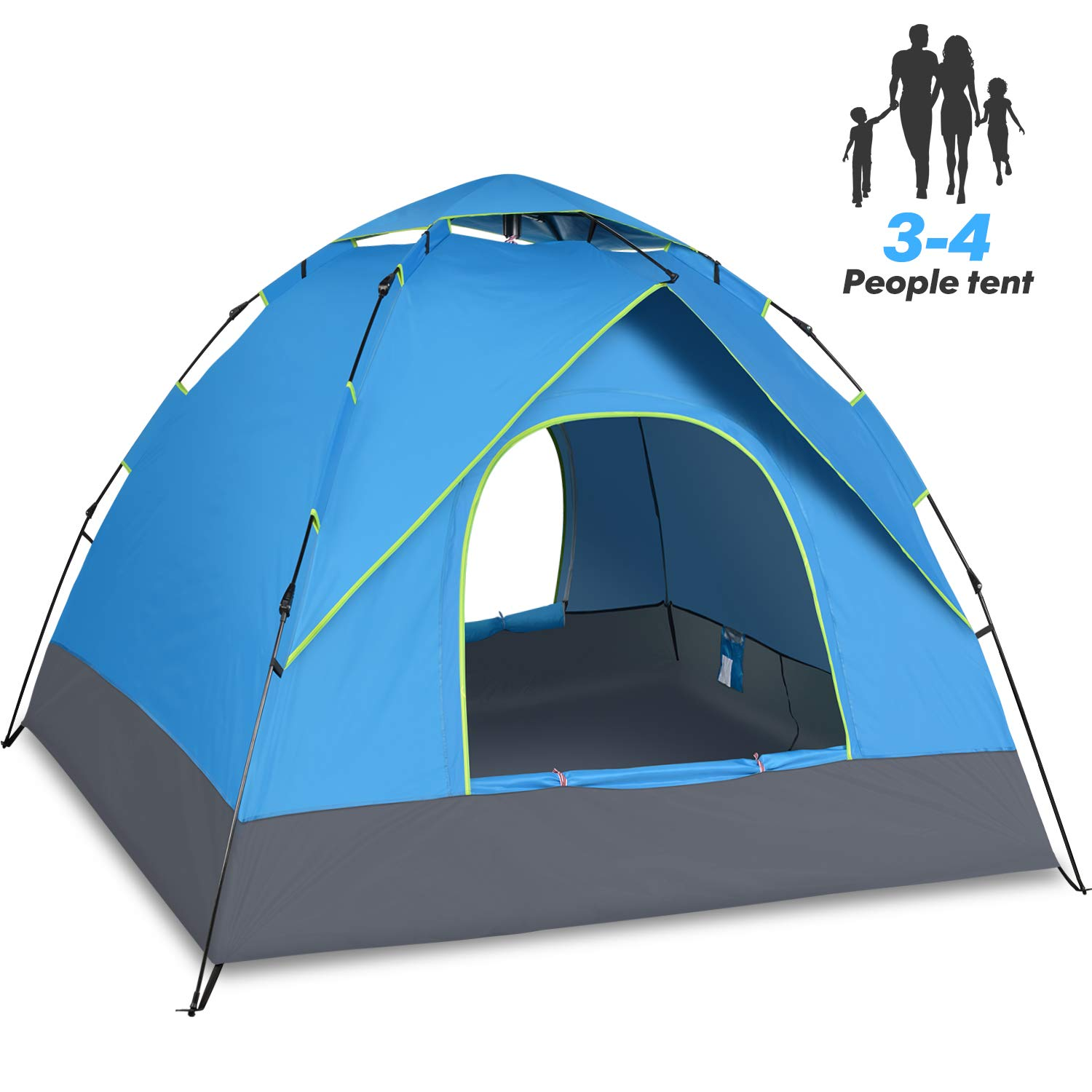 Amagoing 4 Person Tents for Camping with Instant Setup Double Layer Waterproof for 4 Seasons by Amagoing