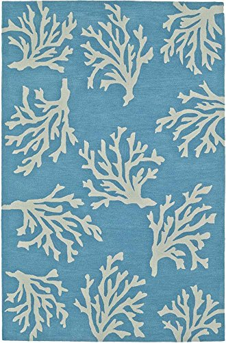 "Dalyn Rug SE12SK5X8 Seaside SE12 Area Rugs, 5' x 7'6"", Sky"
