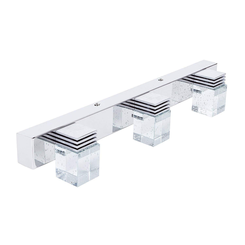 Decoroom Mirror Light LED Vanity Bathroom Light Modern Minimalist Crystal Makeup Lamp Mirror Cabinet Light 9W Cool White