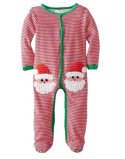 lukycild regalo de Navidad Pelele de bebé recién nacido niña niño pelele de rayas: Amazon.es: Ropa y accesorios
