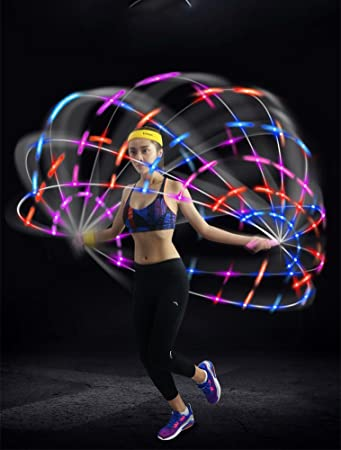 Dasking 3 mode multi color light up skipping rope flashing jump rope dasking 3 mode multi color light up skipping rope flashing jump rope blue aloadofball Choice Image