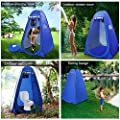 iBaseToy Anti-Peeping Pop-up Shower Tent, Portable Dressing Changing Room Privacy Shelter Tent for Outdoor Camping Beach Toilet and Indoor Photo Shoot with Carrying Bag, 6.25Ft