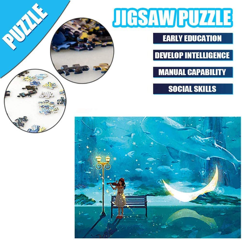 VteePck Jigsaw Puzzles for Kids Performance Painting Adult Puzzles Interesting Toys Handmade Puzzles Personalized Gifts 16x20 Inch Adult Puzzles 500 Piece