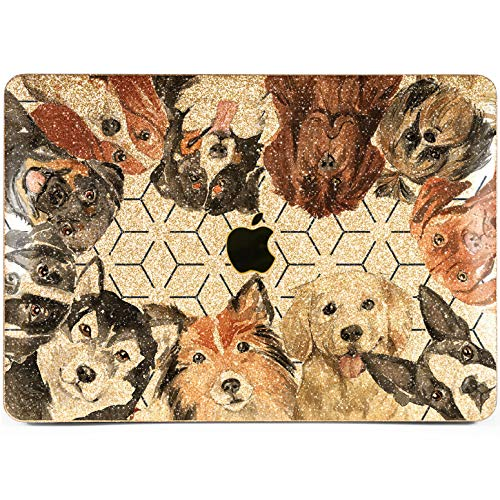 Lex Altern Glitter MacBook Cute Dog Pro 15 inches Shiny Rottweiler Case Present Bling Gold Mac Air 13 2018 Silver Retina 12 Cover 11 Apple 2017 Crystal Sparkly 2016 Plastic Doggy Laptop Protective
