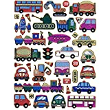 Bus Truck Car sticker decal Metallic Glitter 1 sheet Dimensions: 13.5 cm x 10 cm