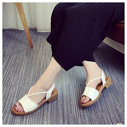 White Flat Sandals Women Bohemia Inkach Summer Rome Sandals Fashion Shoes qgBz6n7
