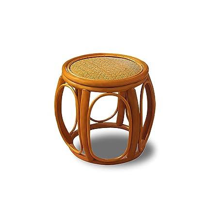 Strange Amazon Com Kxbymx Small Rattan Chair Backrest Stools Shoe Machost Co Dining Chair Design Ideas Machostcouk