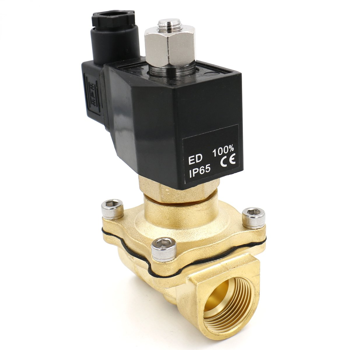 Heschen brass electric solenoid valve 2WK200-20 PT 3//4 AC 220V direct action water air gas normally open