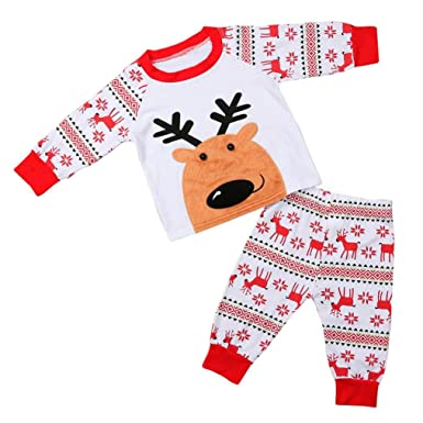 7dd68cb7897b5 2-5 ans Enfant Mixte Garcon   Fille HIver Ensemble de Pyjama Pere Noel Motif