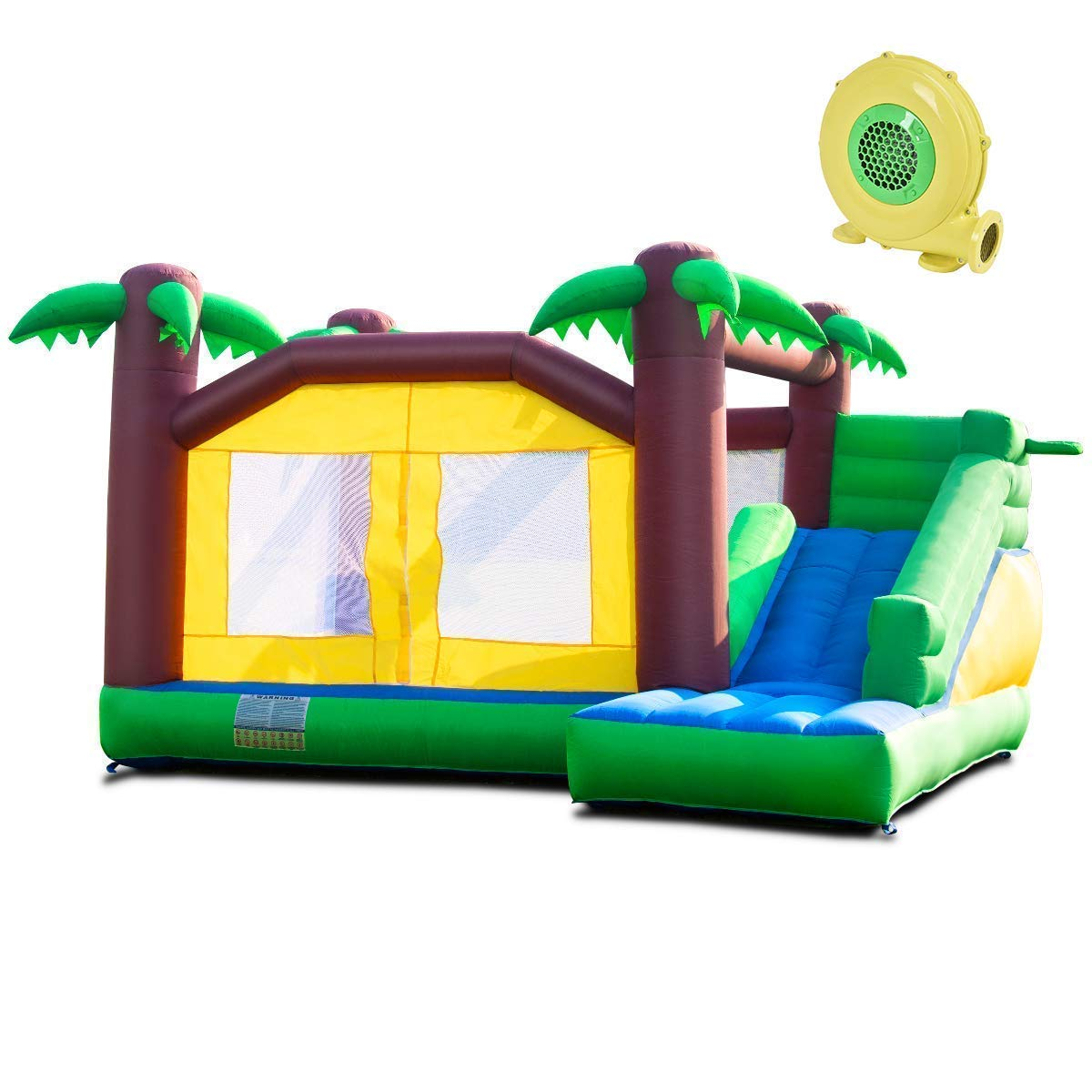 Costzon Inflatable Jungle Bounce House Jump and Slide Bouncer Castle (Bouncer with 950W Blower) by Costzon (Image #1)