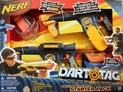 NERF Dart Tag 2 Player Deluxe Starter Pack Tournament Set