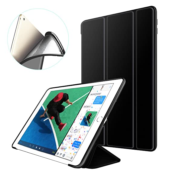 Supstar iPad Mini Case, Shockproof Case Slim lightweight Smart-shell Stand Magnetic PU Leather [Auto Sleep/Wake] with Flexible Soft Solicone Back ...