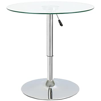 Awesome Hartleys Adjustable Height Round Table   Clear Glass: Amazon.co.uk: Kitchen  U0026 Home