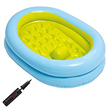 Intex - Bañera hinchable para bebés y bomba manual, 86 x 64 x 23 ...