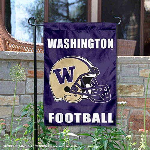 (College Flags and Banners Co. Washington Huskies Football Helmet Garden Flag)