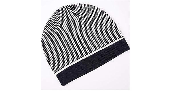 d03fc1856818 LLTS Sombrero de Lana para Hombre Orejeras de otoño e Invierno ...