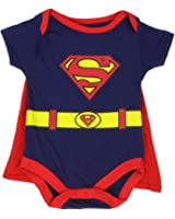 "Superman Infant Baby Boys ""Creeper Onesie Bodysuit Snapsuit"" With Cape"