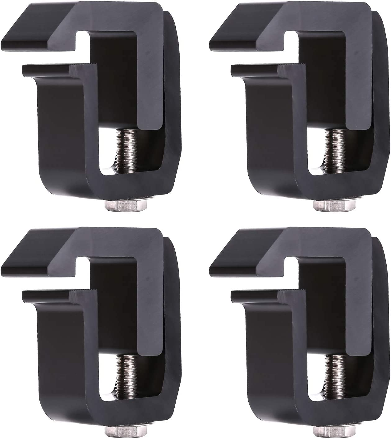 Black Ford F-150 F-250 F-350 AA-Racks P-AC-08 Truck Cap//Camper Shell Mounting Clamp fit Chverolet Silverado S-10 Colorado//GMC Sierra Sonoma Canyon Dodge Ram Set of 4