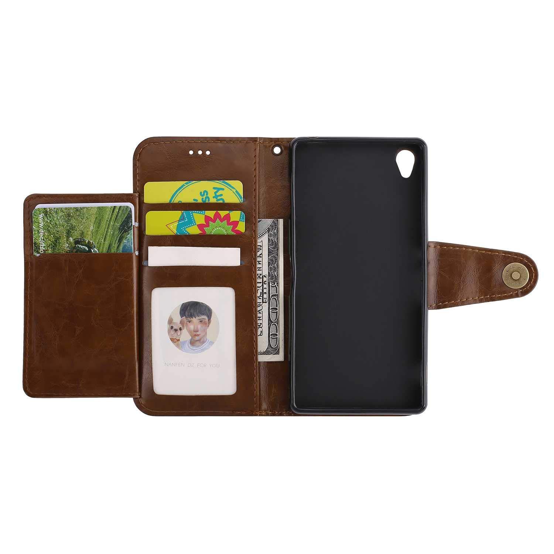 Bear Village Flip Wallet PU Leather Case Retro Card Holder Case ...