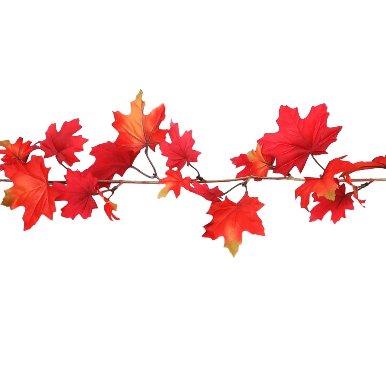 Patelai 5.9 Piedi Autunno Artificiale Ghirlanda di Foglia d'Acero per Autunno Decorazione di Festa (1)