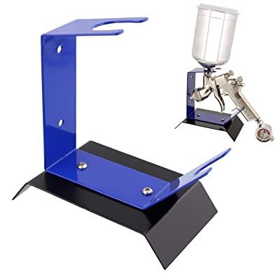 TCP Global Brand Benchtop Gravity Feed Spray Gun Holder Stand, Holds Auto Paint HVLP Guns, Table or Bench Top: Automotive