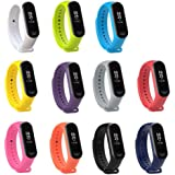 XIHAMA Watch Strap for Xiaomi mi Band 3, Soft Silicone Replacement Band Fitness Sports Activity