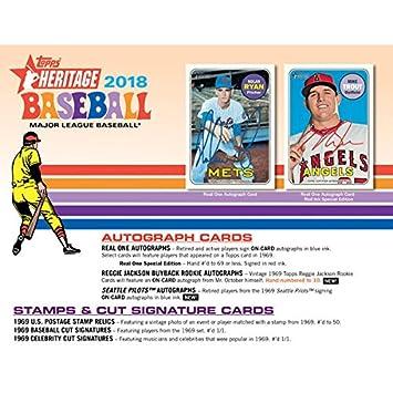 Amazon com : 2018 Topps Heritage Baseball Retail Mass Value Box