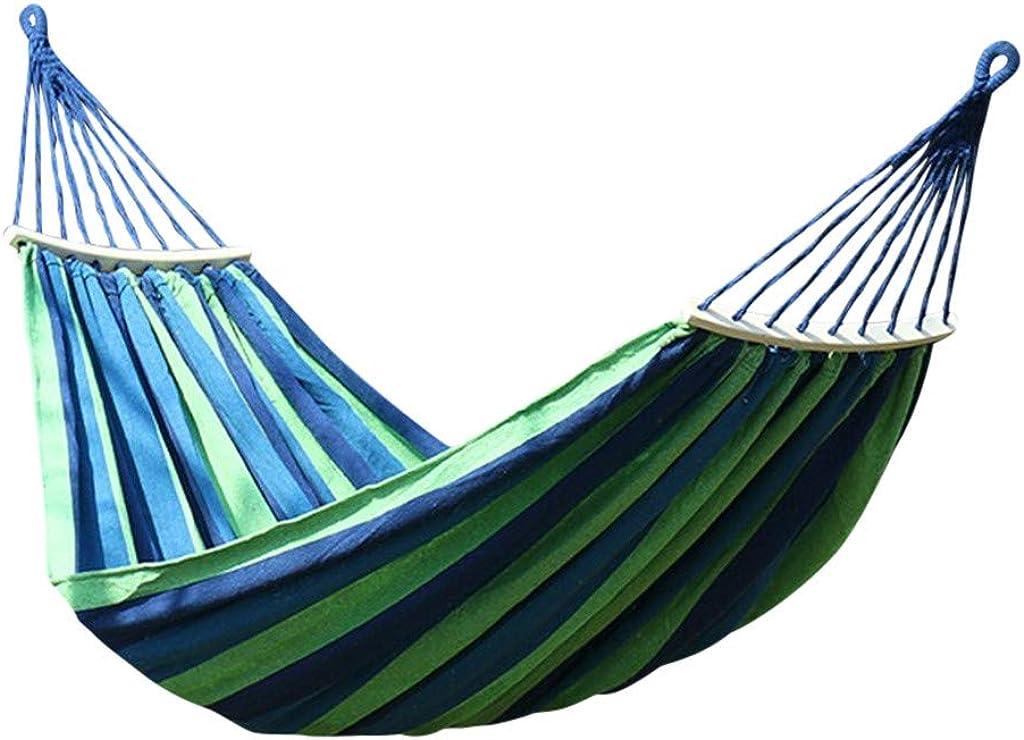 Fiosoji Hamaca de Lona portátil para 2 Personas, para Camping, jardín, Playa, Viajes, portátil, con Bolsa de Transporte para mochilero, Camping, Patio, jardín,200 x 80/100/150 cm
