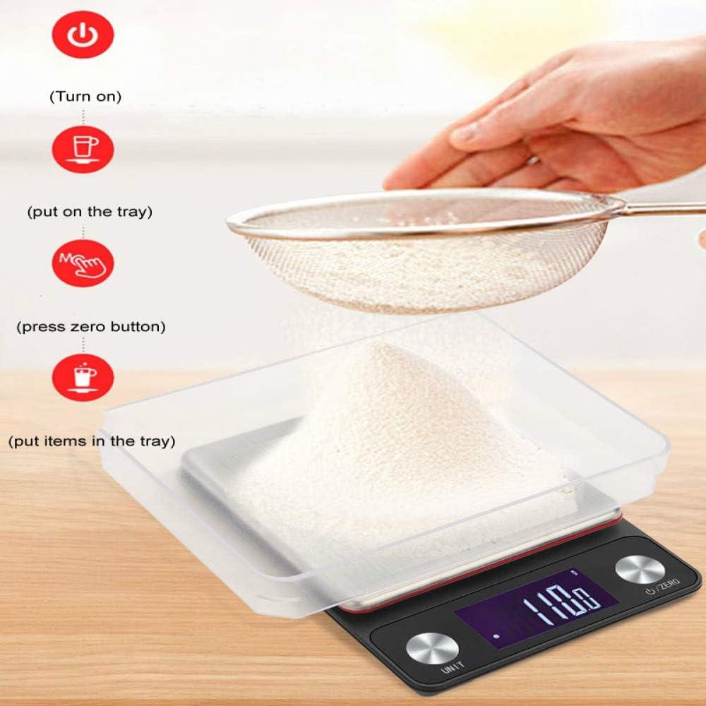 5kg / 3kg 0.1g LCD Báscula de cocina eléctrica digital Báscula electrónica de alimentos Herramientas de medición con bandeja transparente g/lb/gn/tl/ml/ct/oz/ozt: Amazon.es: Hogar