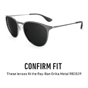 897c1dcf15 Revant Polarized Replacement Lenses for Ray Ban Erika Metal RB3539 Black  Chrome MirrorShield®  Amazon.co.uk  Clothing